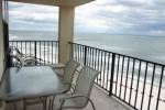 Balcony overlooking the Gulf of Mexico at Orange Beach Gulf Shores Alabama